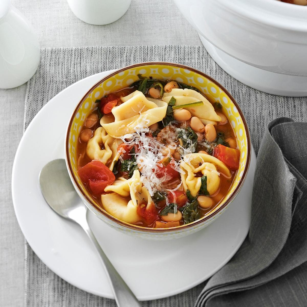 Get Recipe Christmas Tortellini Spinach Soup