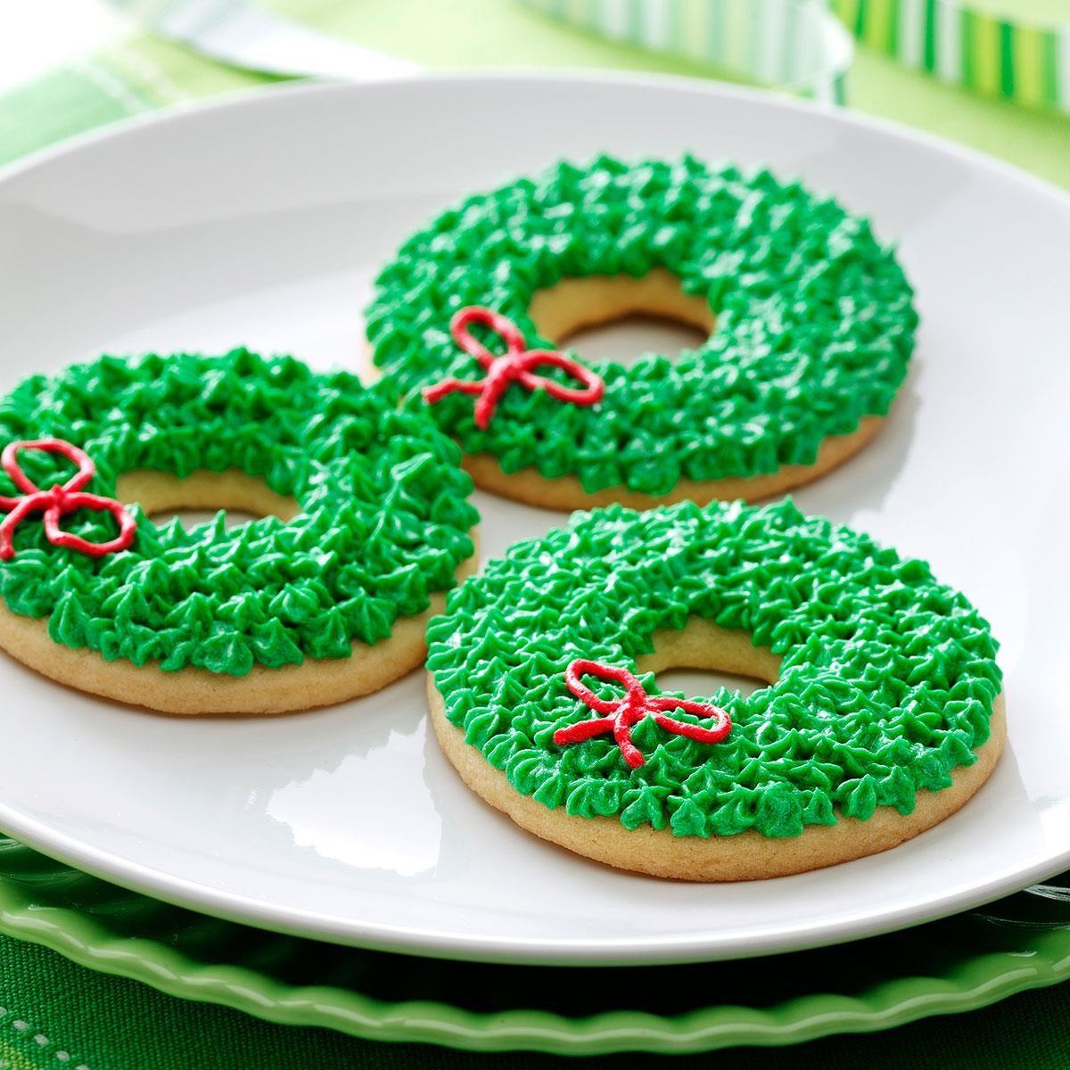 Christmas Wreath Cookies Recipe | Taste of Home