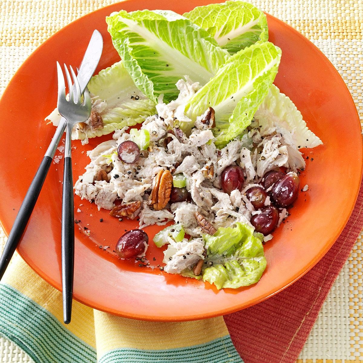 Chunky Chicken Salad With Grapes And Pecans Recipe Taste Of Home