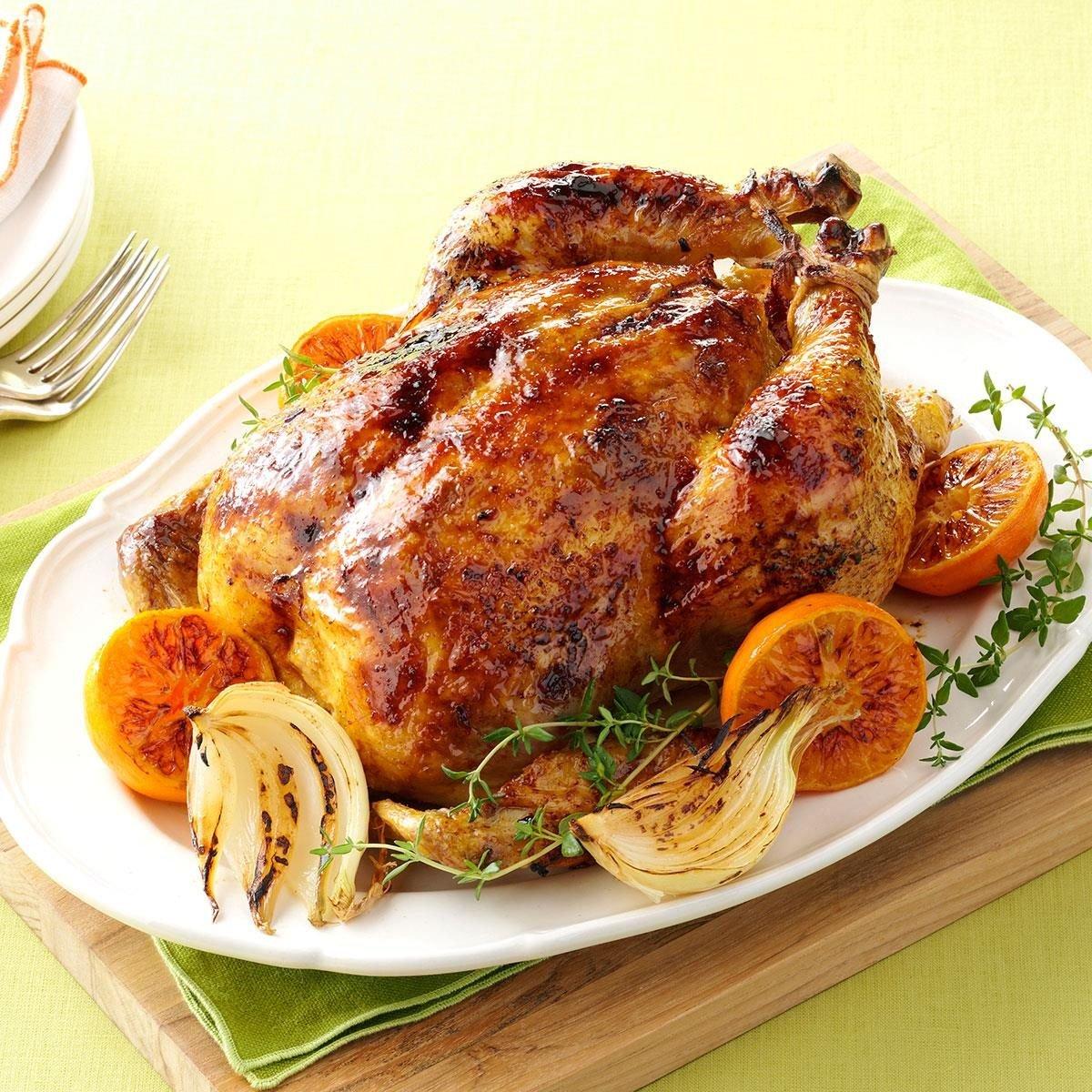 Citrus-Spiced Roast Chicken Recipe | Taste of Home