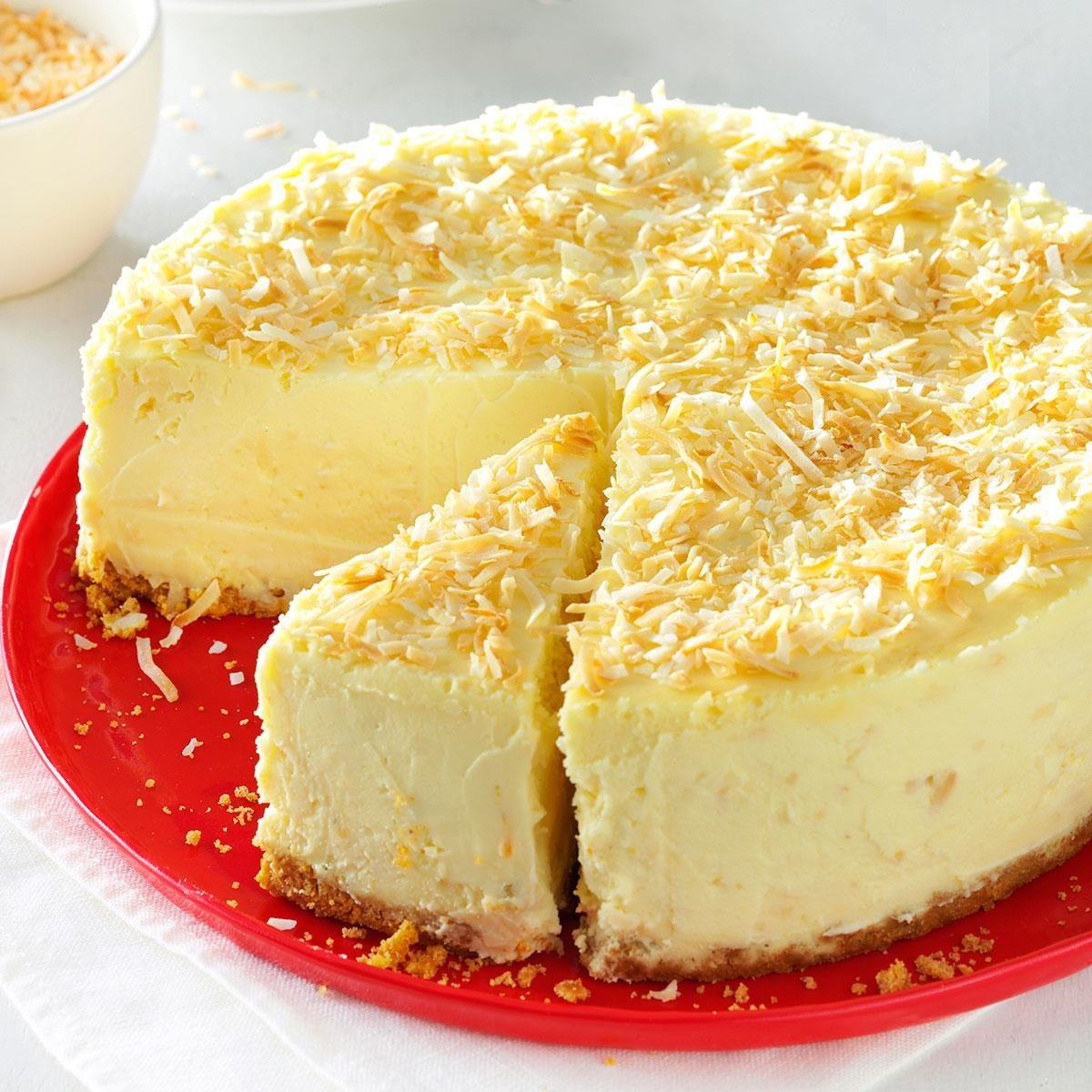 Coconut White Chocolate Cheesecake Recipe Taste Of Home