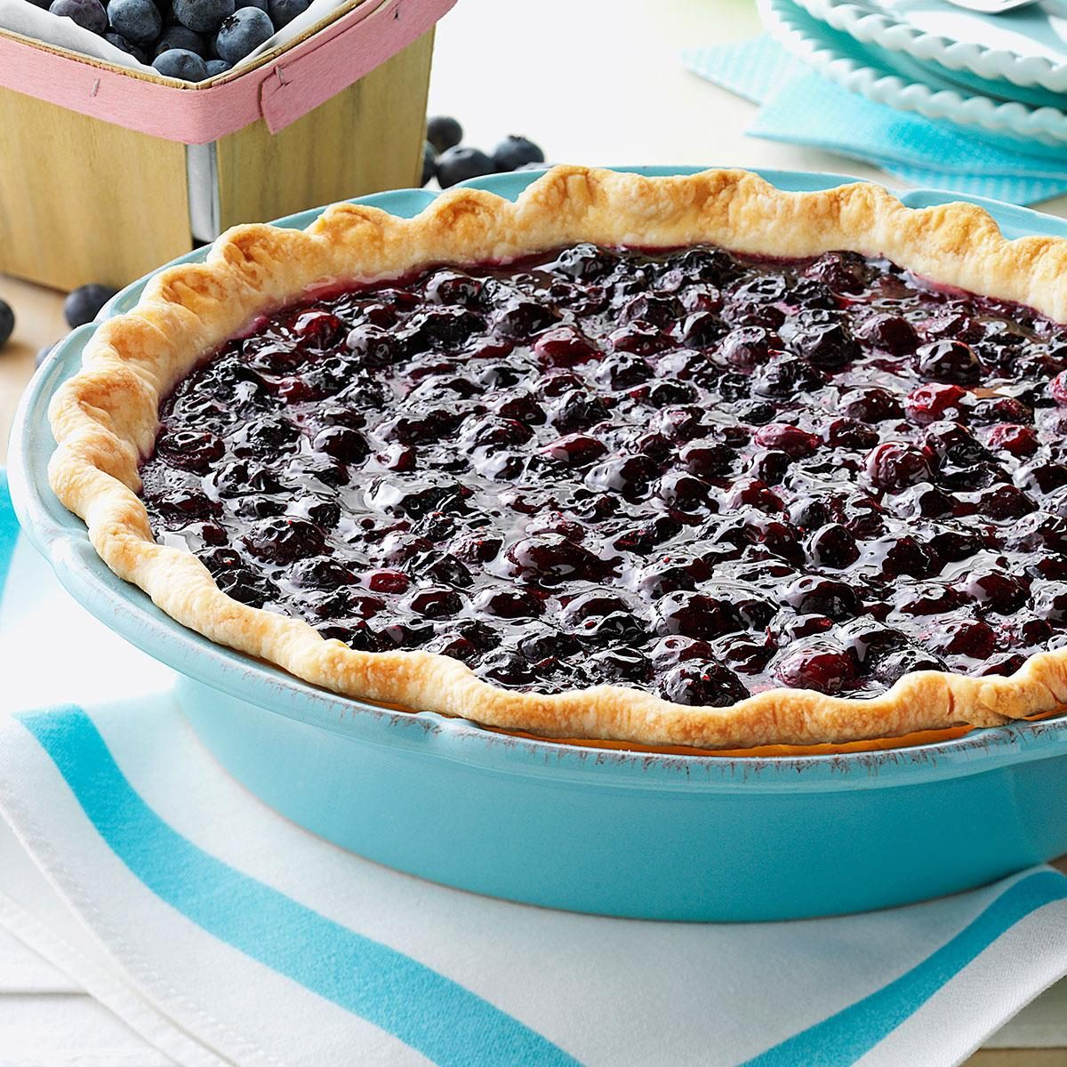 Super Bowl Appetizers Contest Winning Fresh Blueberry Pie Recipe Taste Of Home