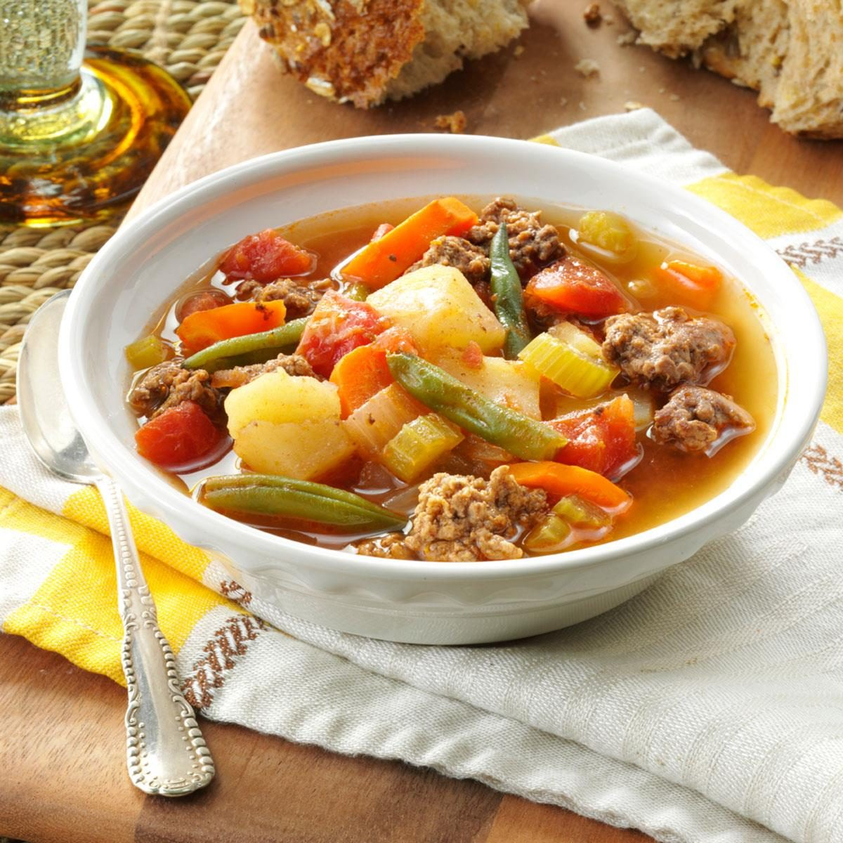 Contest winning hearty hamburger soup recipe taste of home for Easy tasty soup recipes