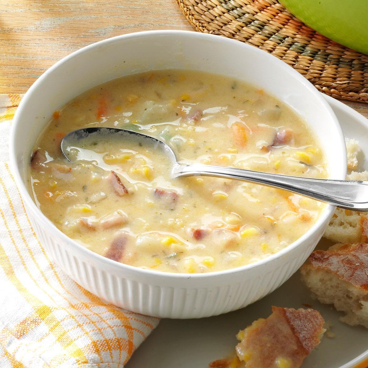 Corn Chowder With Potatoes Recipe