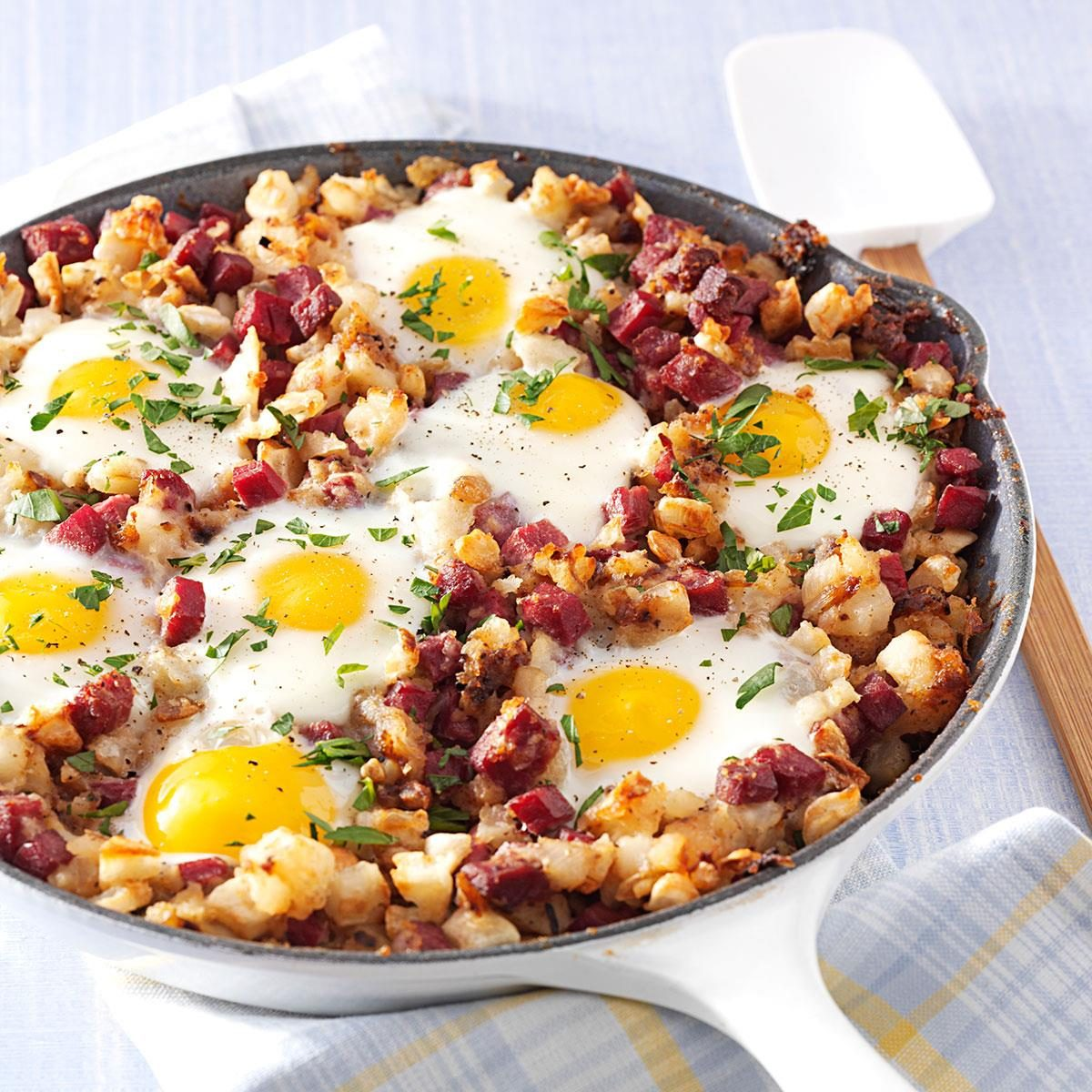 Corned Beef Hash and Eggs Recipe | Taste of Home