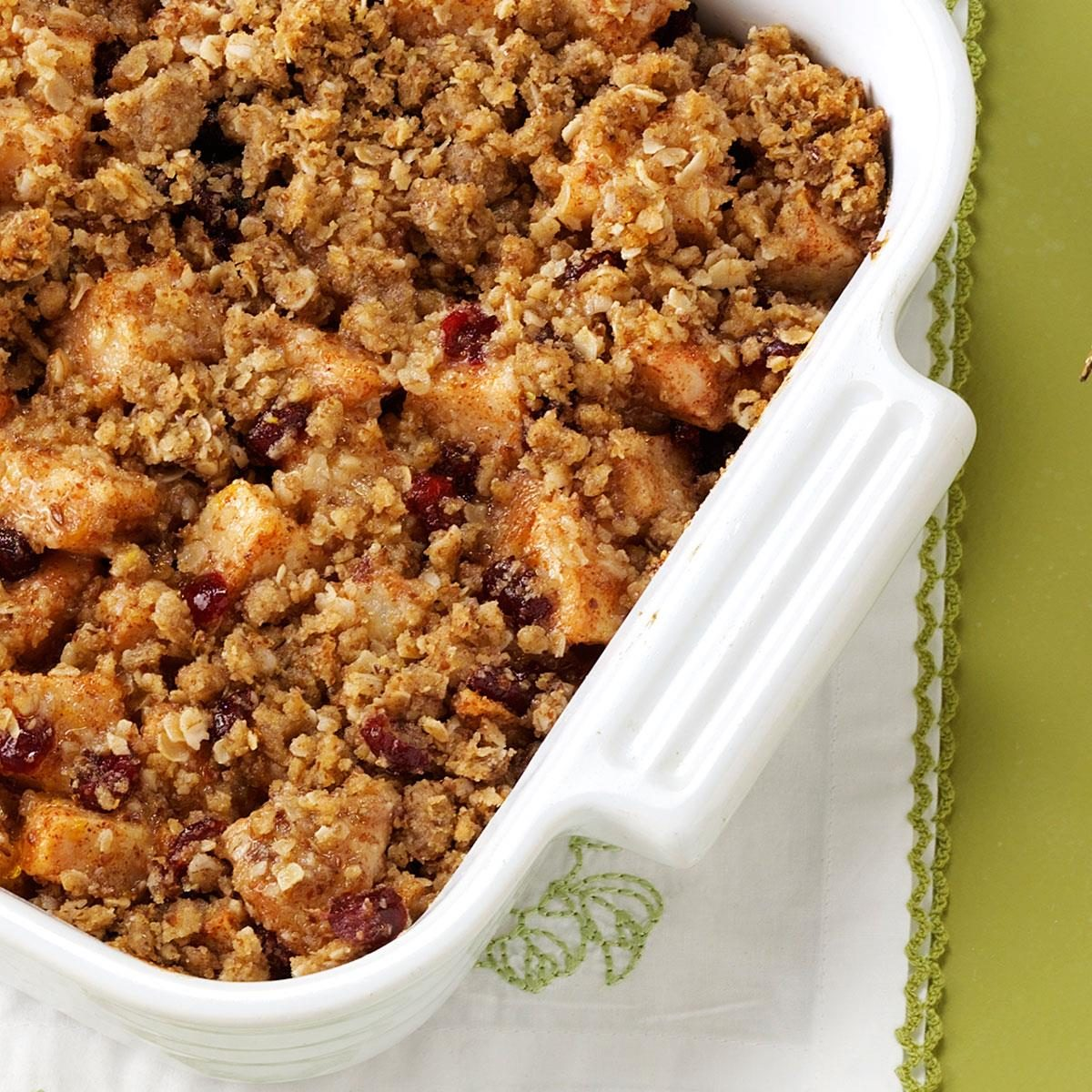 Cranberry and Pear Crisp Recipe | Taste of Home