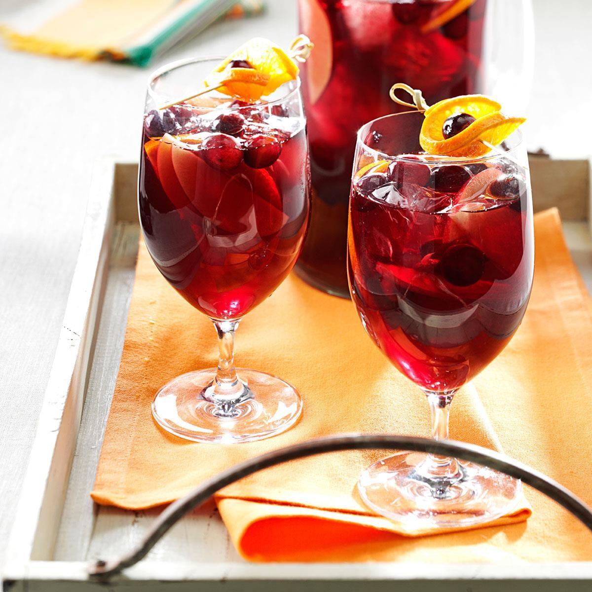 Cranberry Orange Sangria Recipe Taste Of Home