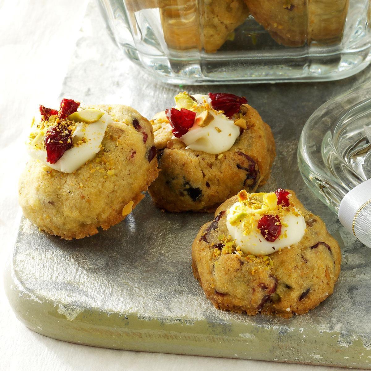 Cranberry-Pistachio Thumbprint Cookies Recipe