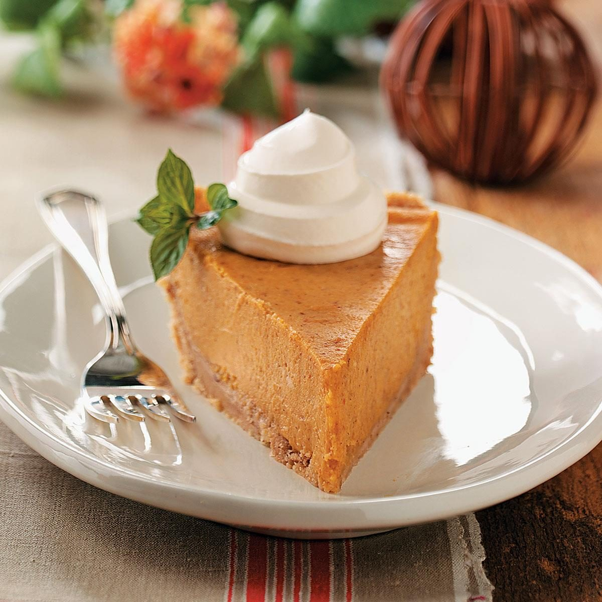 Cream Cheese Pumpkin Pie Recipe | Taste of Home