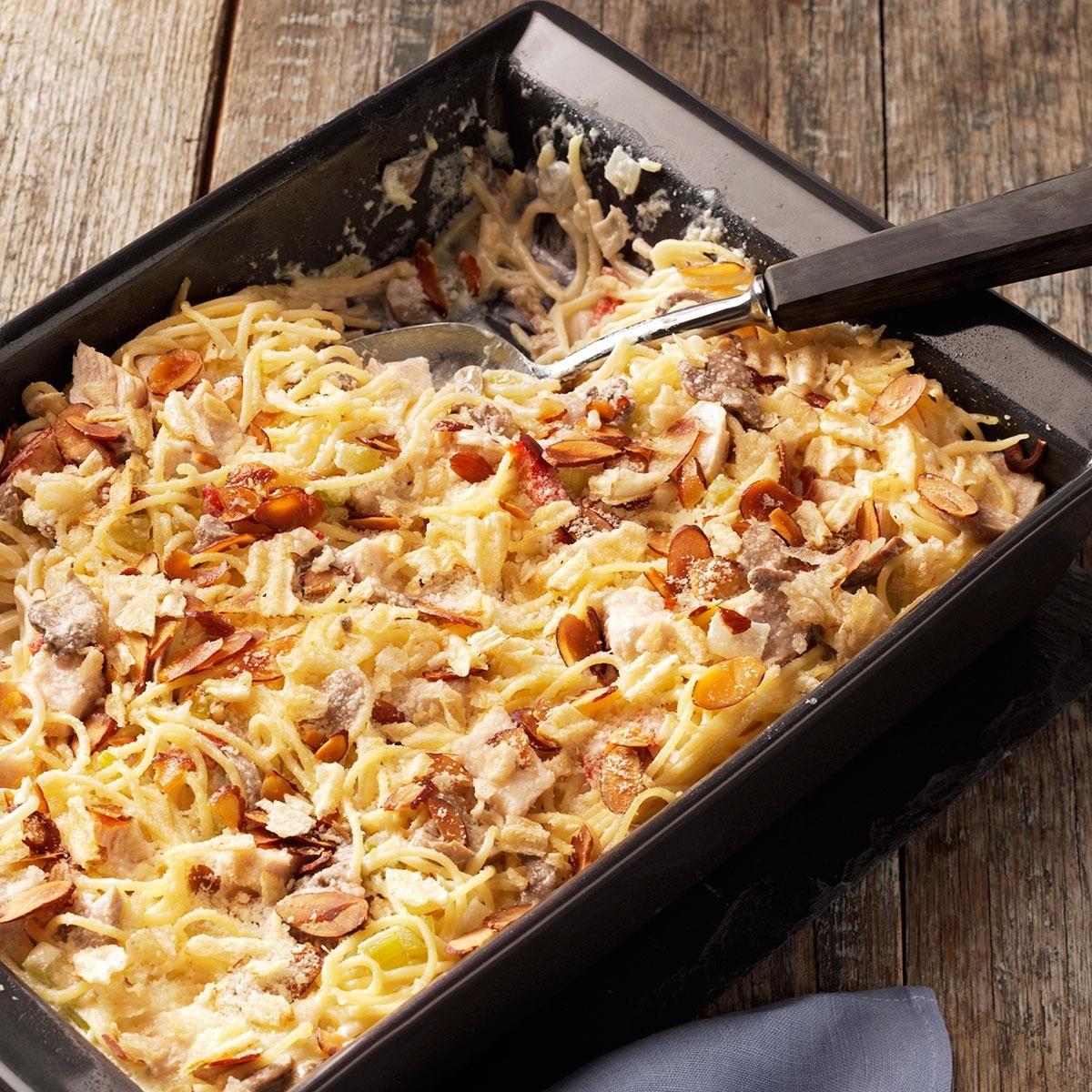 Creamy Chicken Tetrazzini Casserole Recipe | Taste of Home
