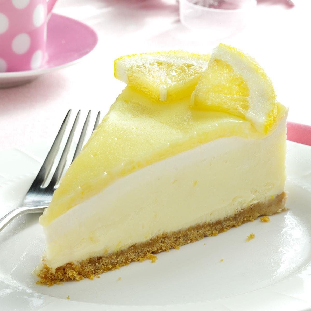Creamy Lemon Cheesecake Recipe | Taste of Home