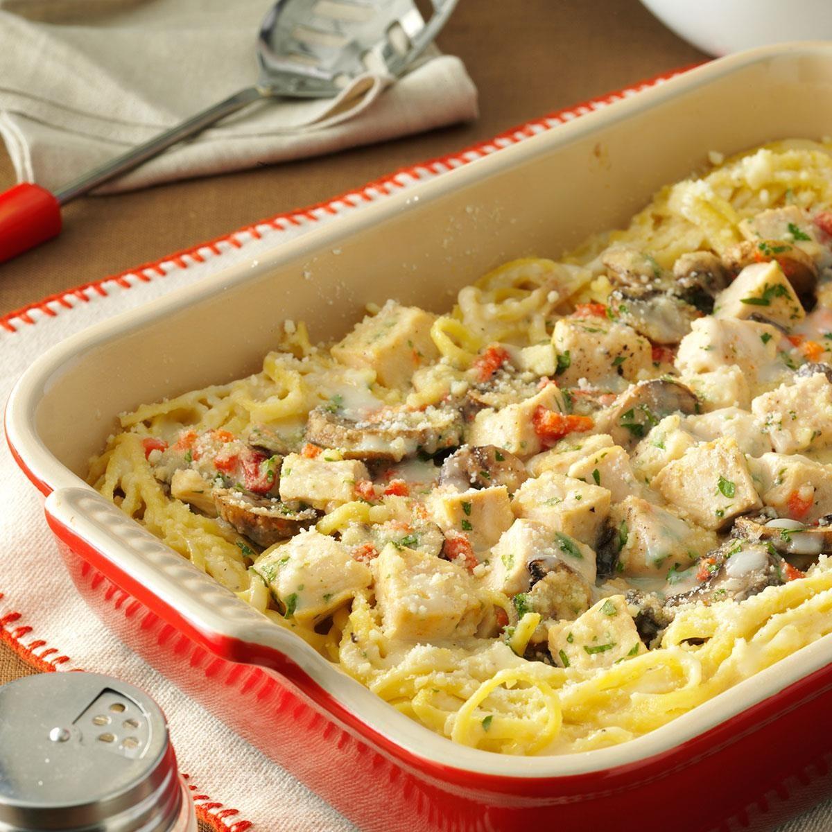 Creamy Turkey Tetrazzini Recipe | Taste of Home