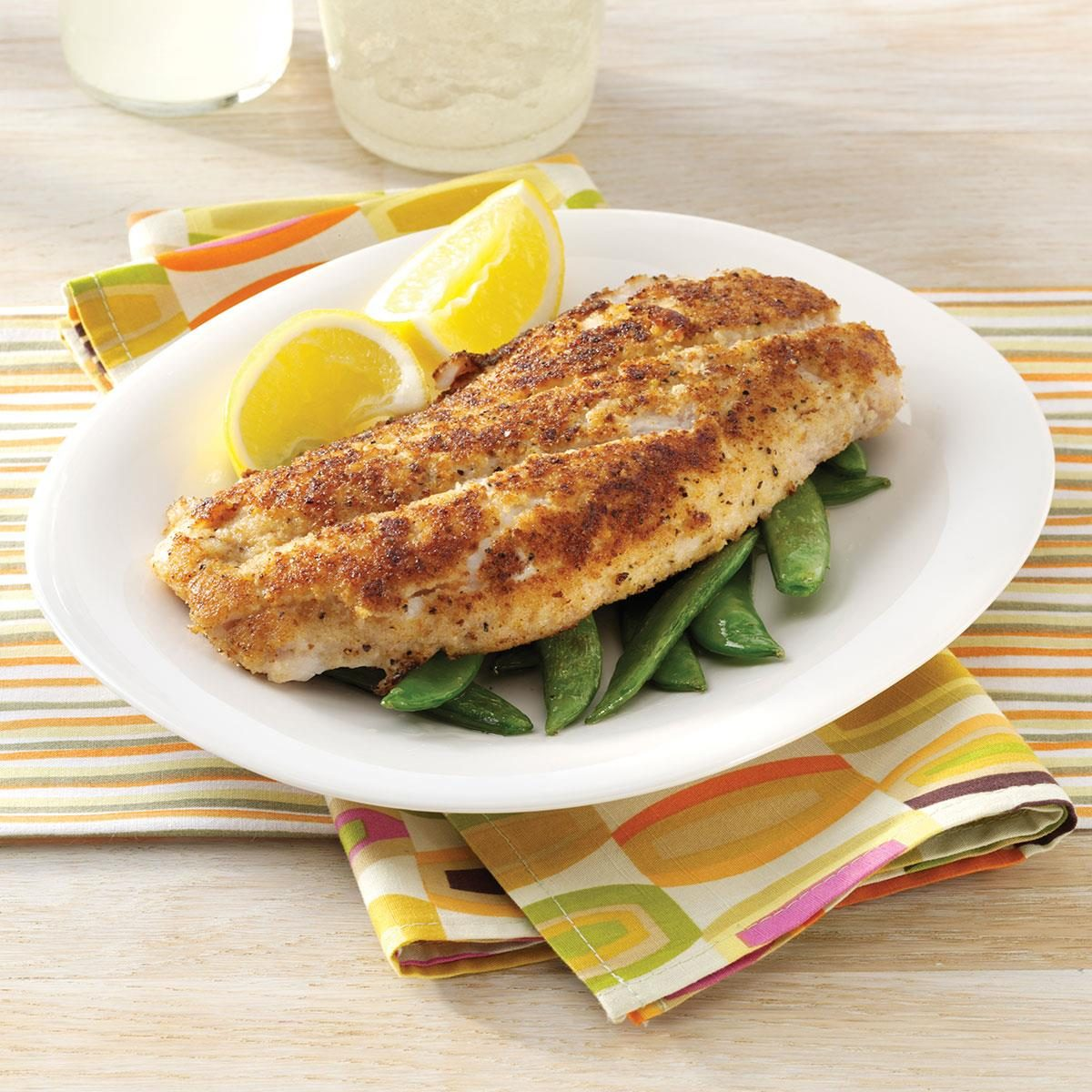 Crumb coated red snapper recipe taste of home for Snappers fish chicken