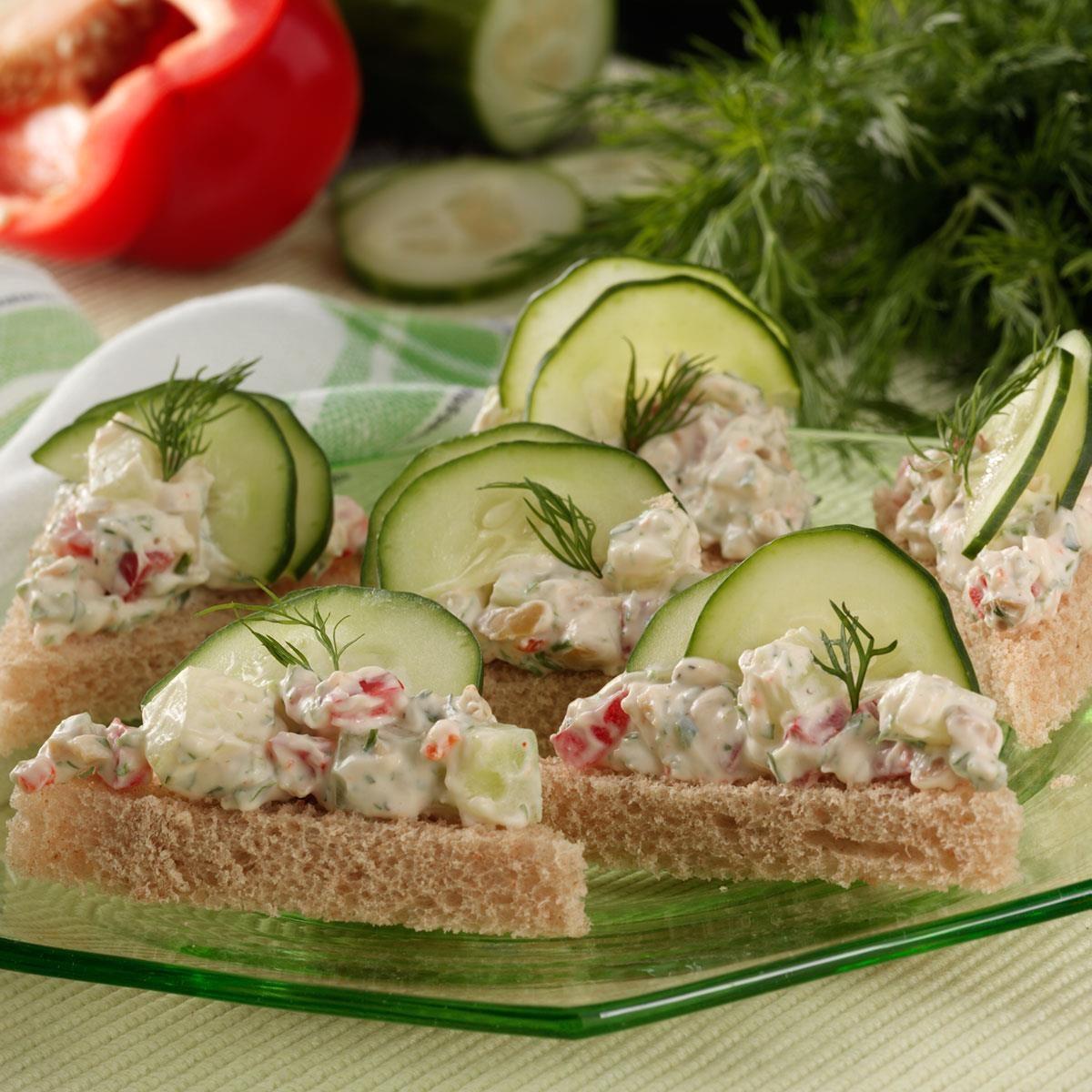 Super Bowl Appetizers Cucumber Tea Sandwiches Recipe Taste Of Home