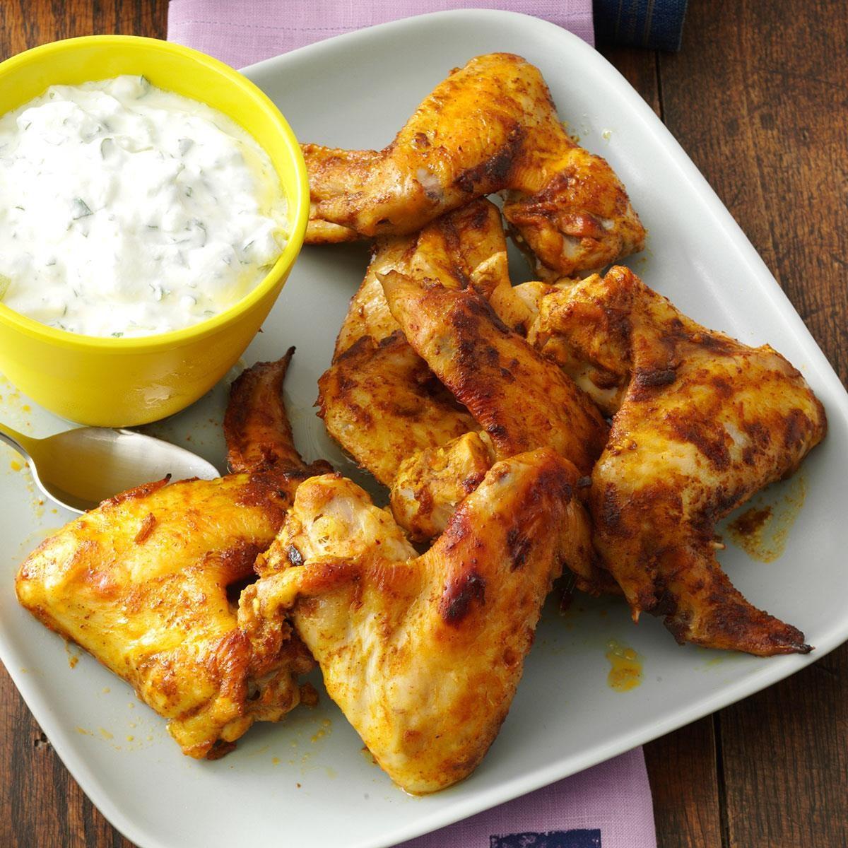 Curry & Mango Chutney Chicken Wings Recipe | Taste of Home