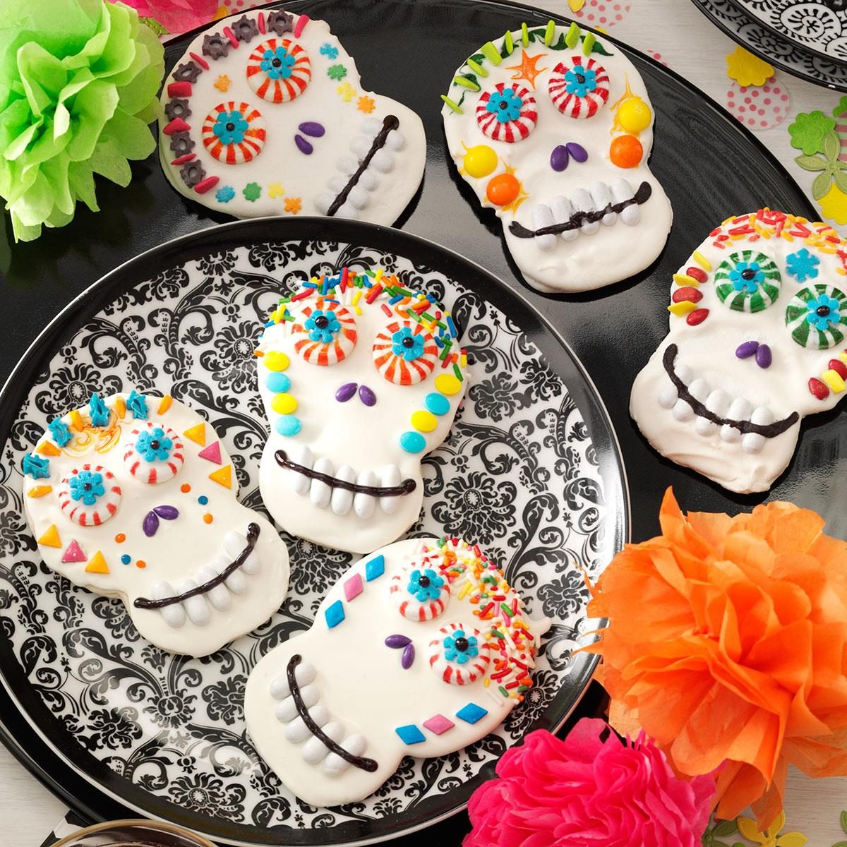 day of the dead cookies recipe taste of home - Decorating Halloween Cookies