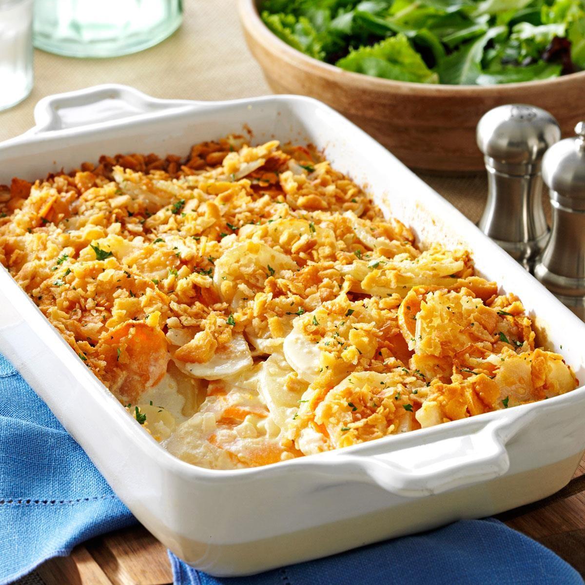 Dijon scalloped potatoes recipe taste of home for Food for easter dinner