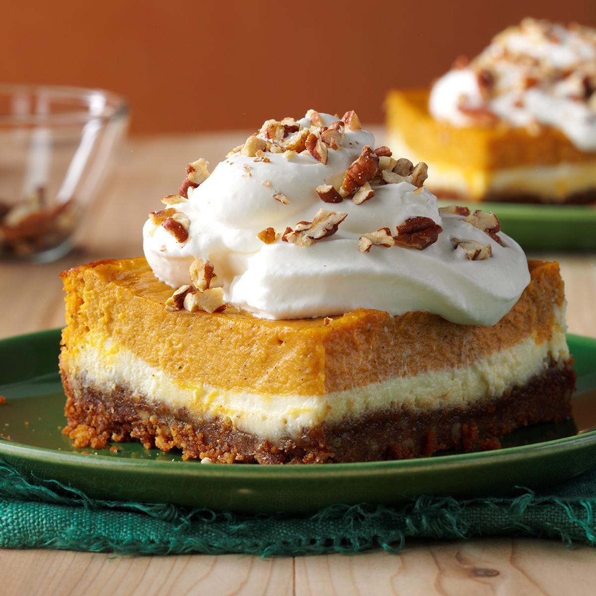 Double-Layer Pumpkin Cheesecake Recipe | Taste of Home