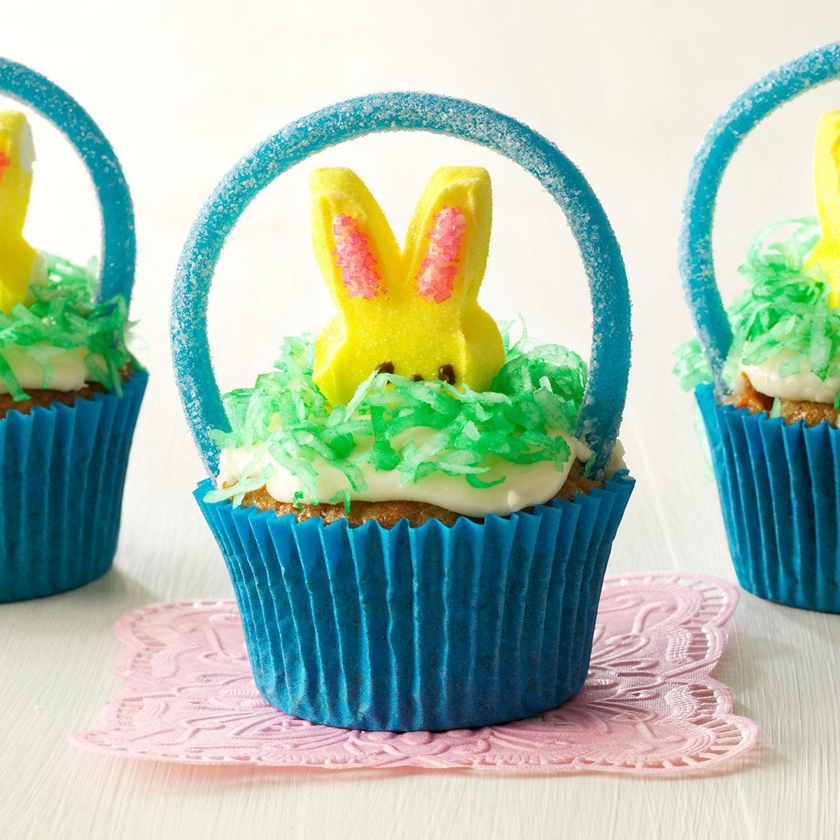Easter Cake Decorating Challenge : Easter Basket Cupcakes Recipe Taste of Home
