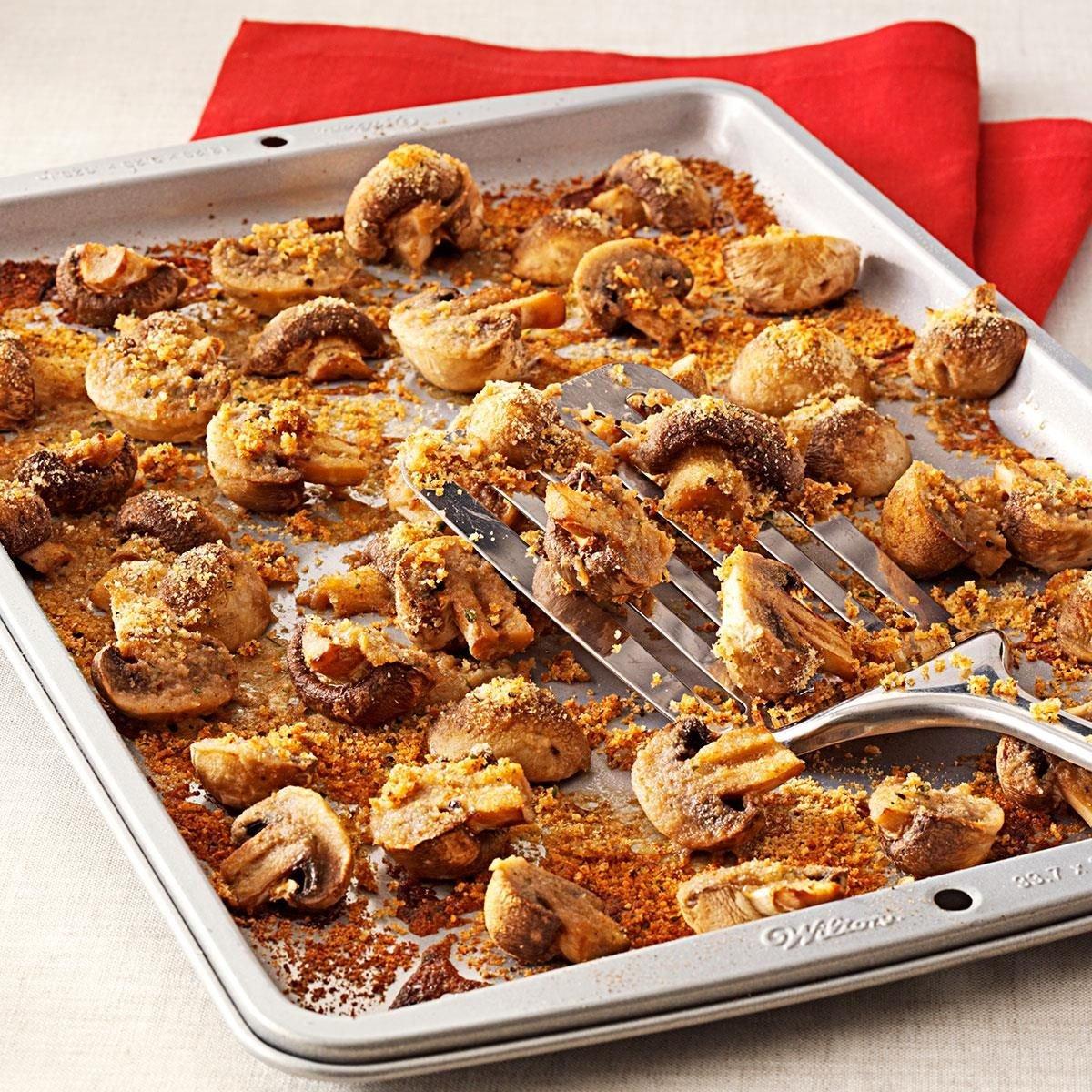 Easy Baked Mushrooms Recipe