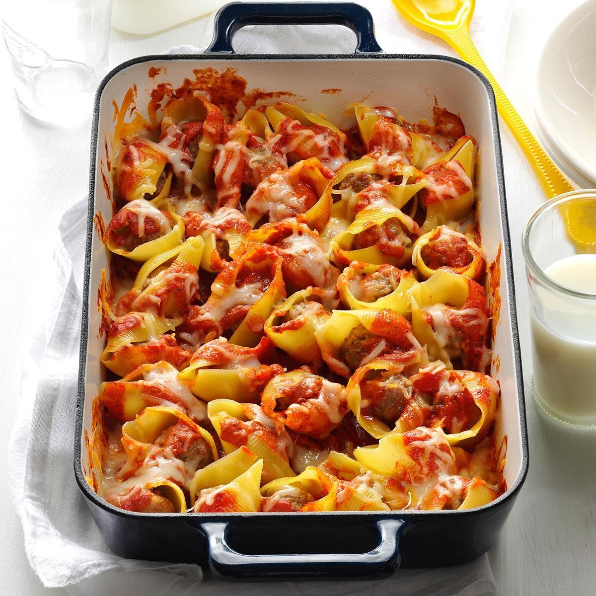 Simple stuffed pasta shells recipe