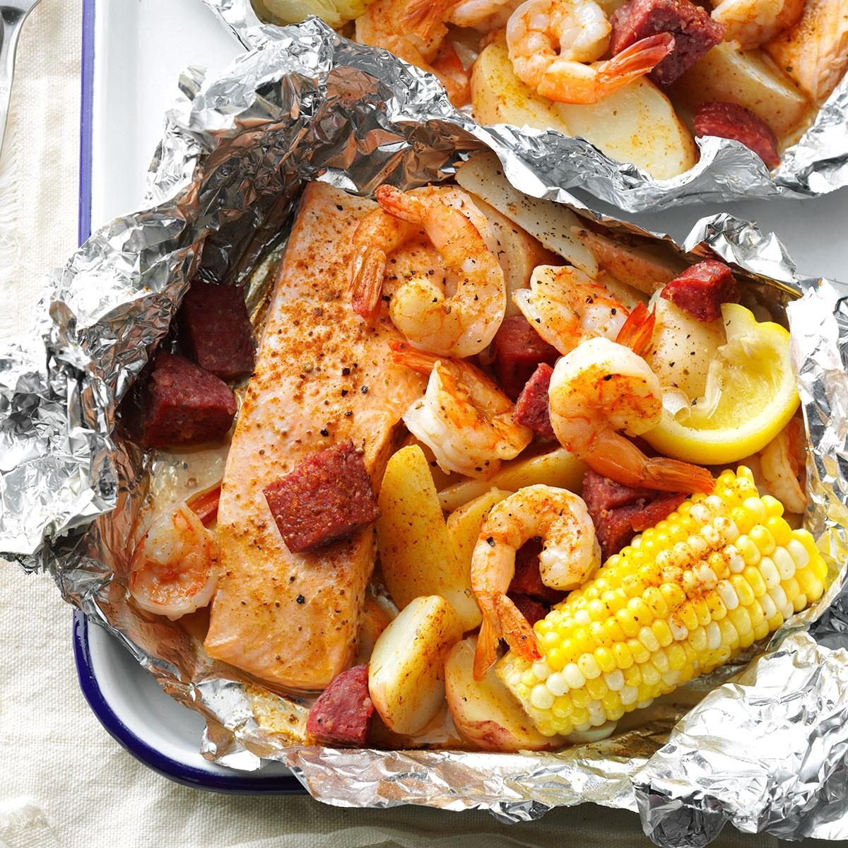 Top 10 Great Camping Recipes: Cajun Boil On The Grill Recipe