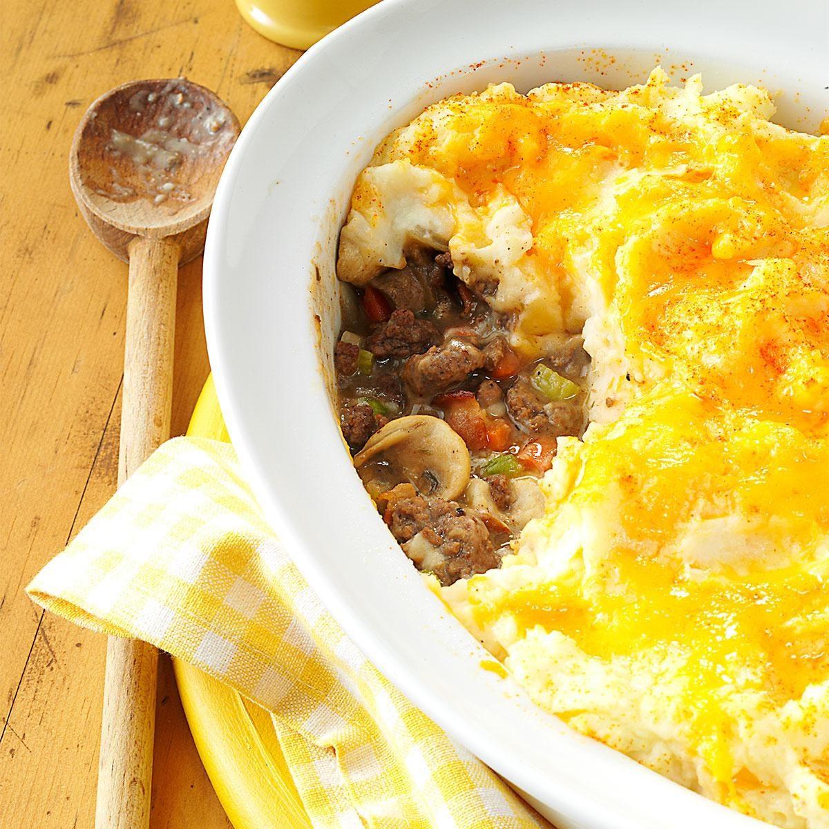 Mashed Potato Beef Casserole Recipe
