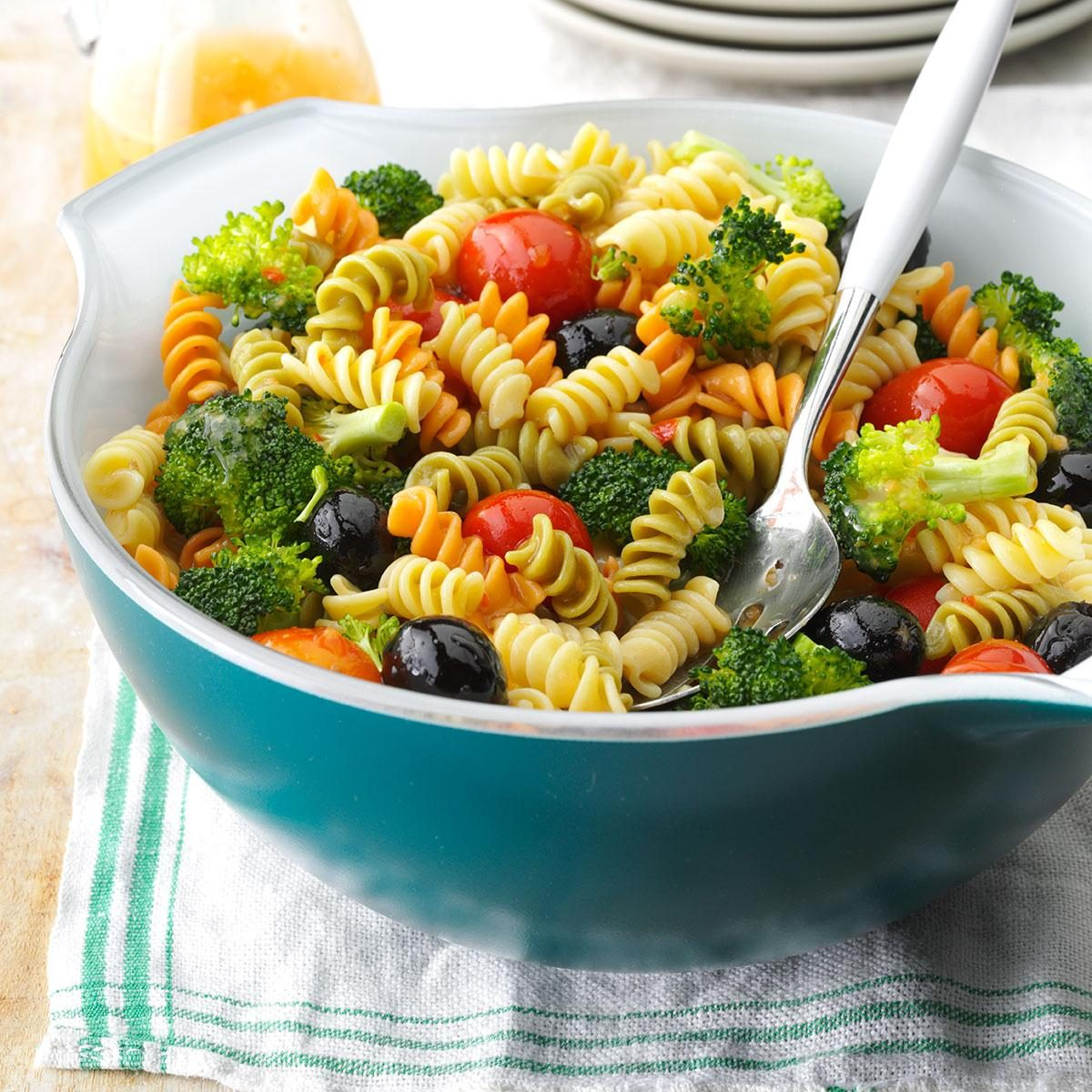 Tri-color pasta salad recipe