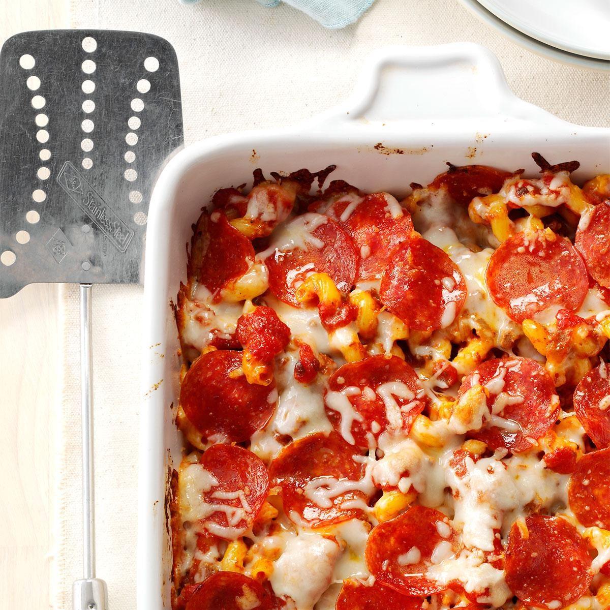 Pizza Pasta Casserole Recipe | Taste of Home