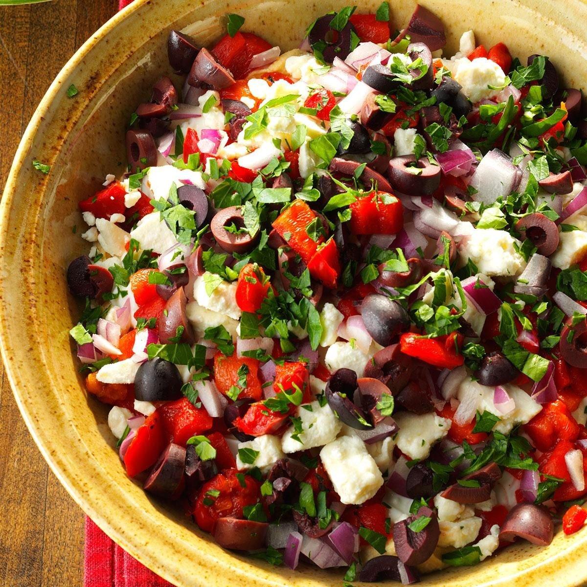 Seven-Layer Mediterranean Dip Recipe