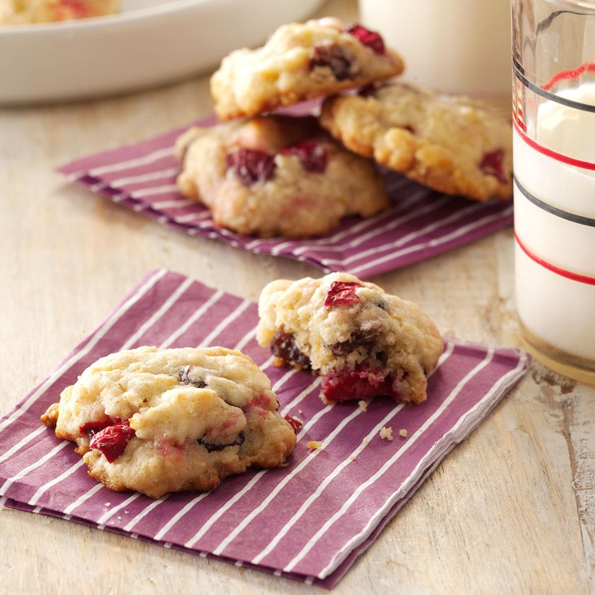 Cranberry Oatmeal Cookies Recipe   Taste of Home