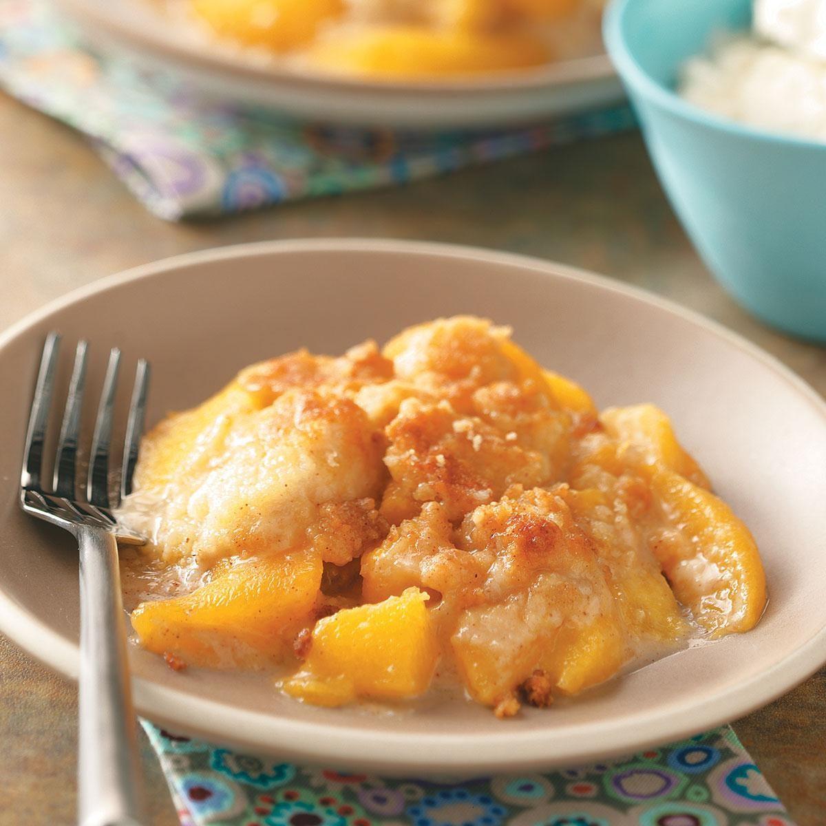 Chili S Peach Crumble Cake Recipe