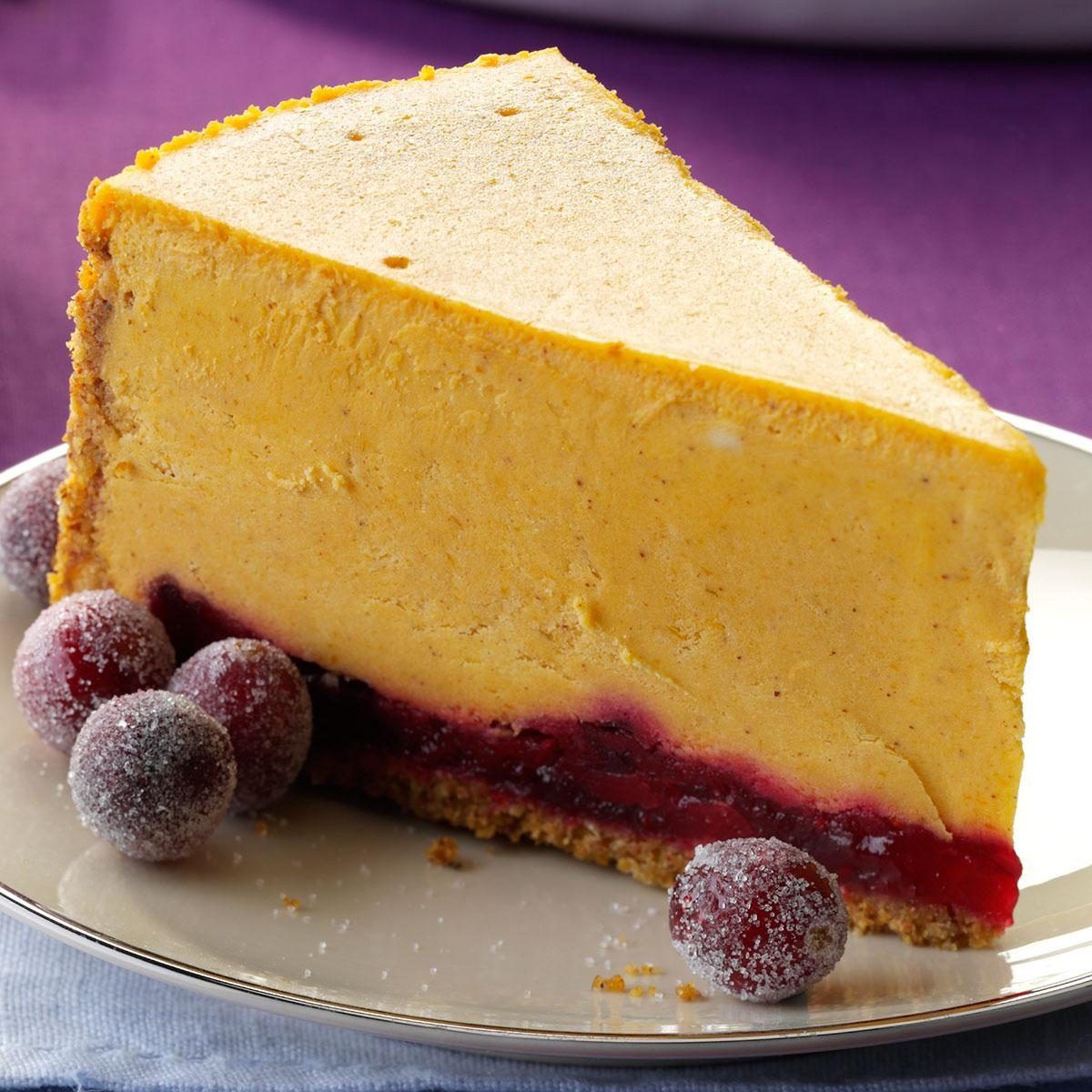 Pumpkin Cranberry Cheesecake Recipe | Taste of Home