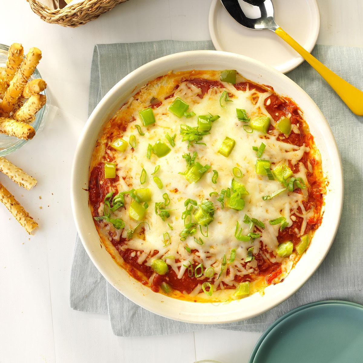 Easy Appetizers And Dips: Hot Pizza Dip Recipe