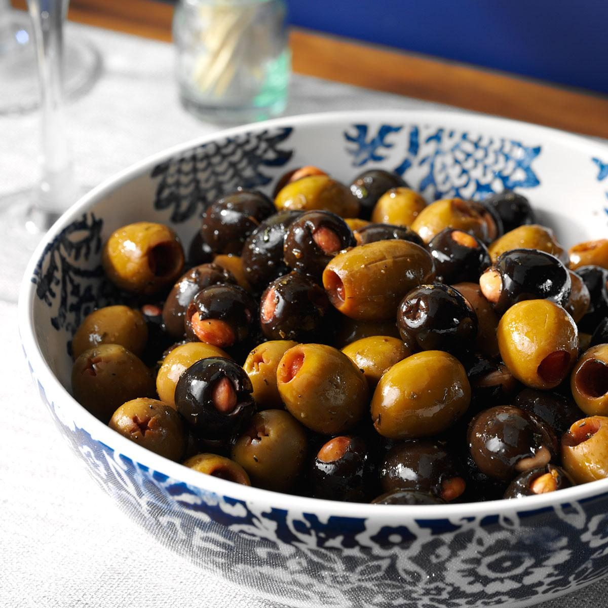 Easy Italian Desserts For A Crowd: Marinated Almond-Stuffed Olives Recipe