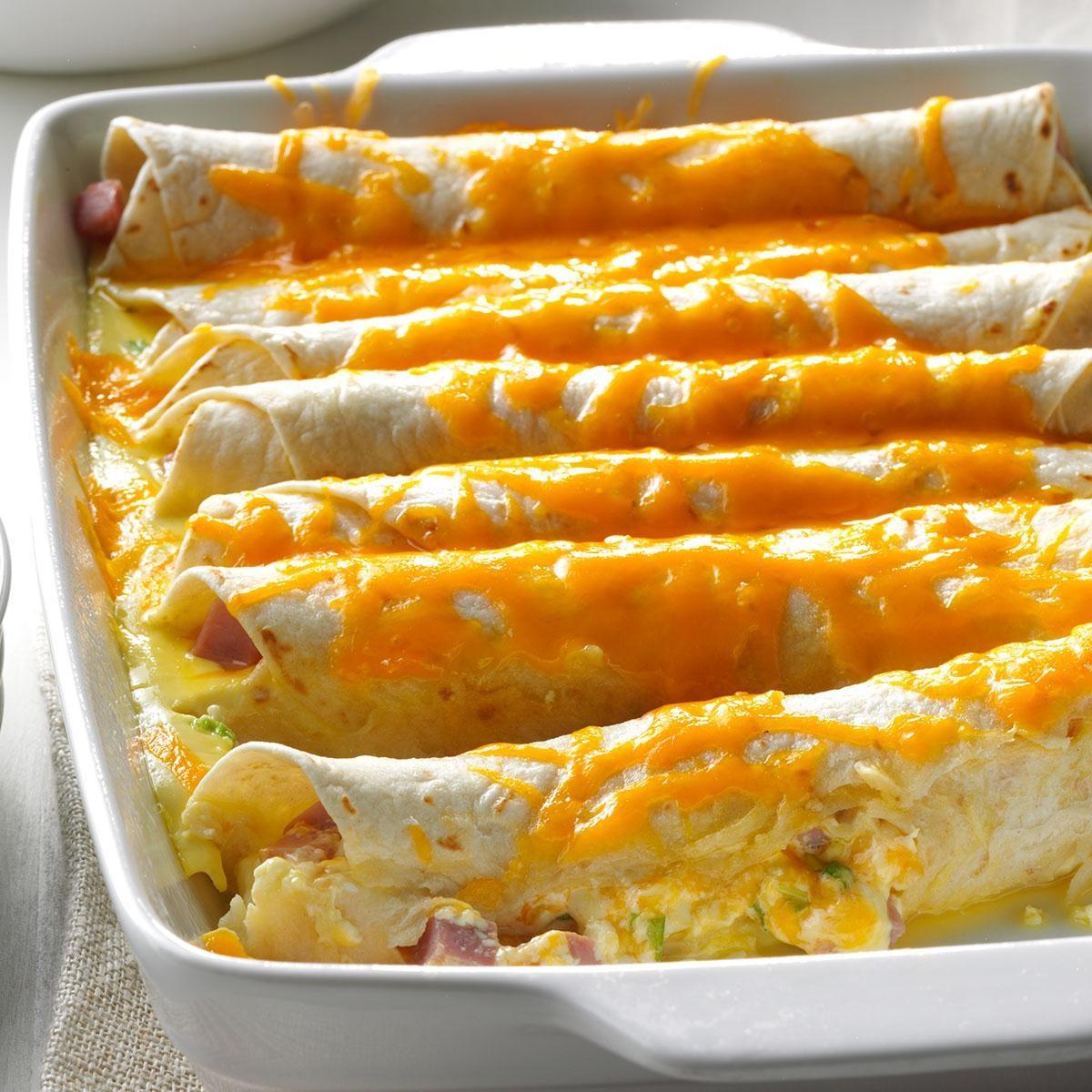 Brunch Ham Enchiladas Recipe