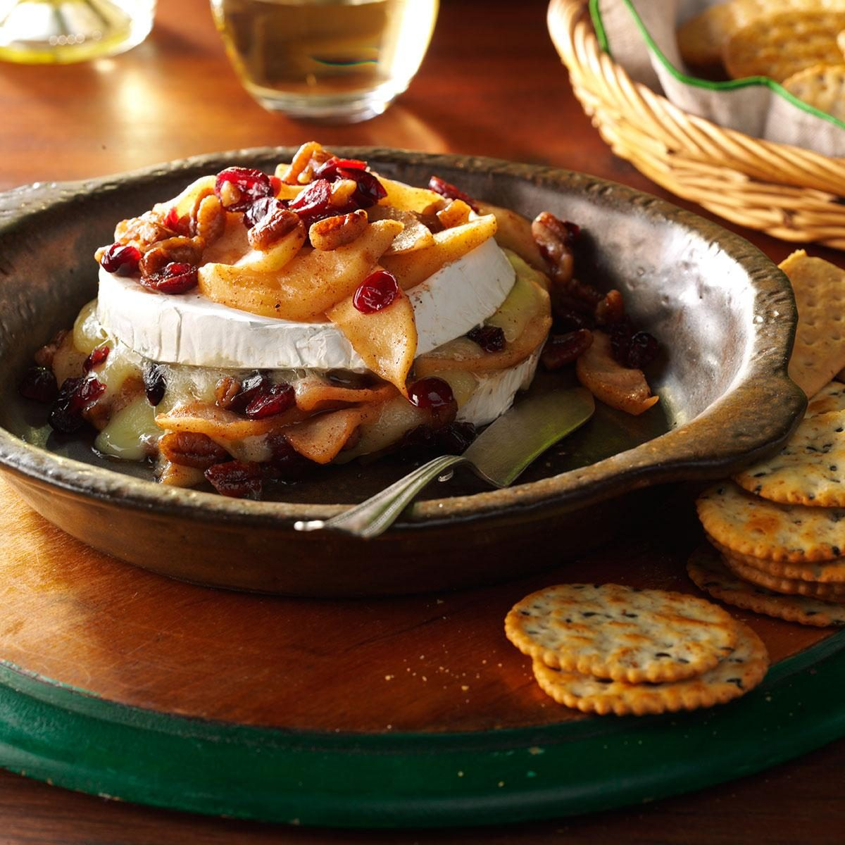 Apple-Pecan Baked Brie Recipe | Taste of Home