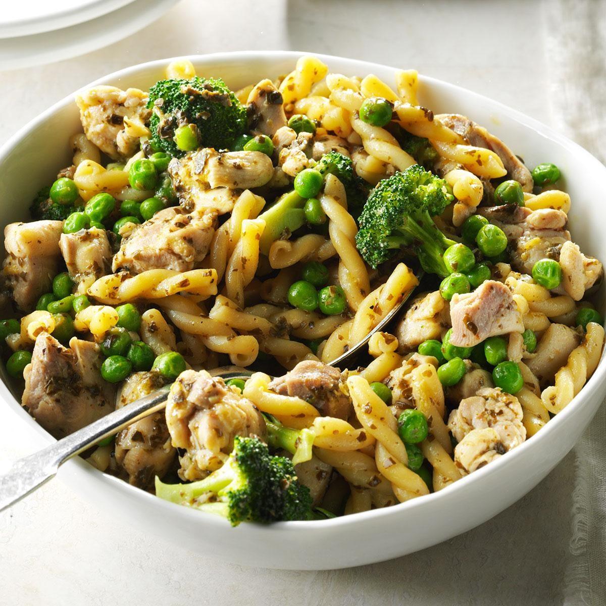 One-Pot Chicken Pesto Pasta Recipe