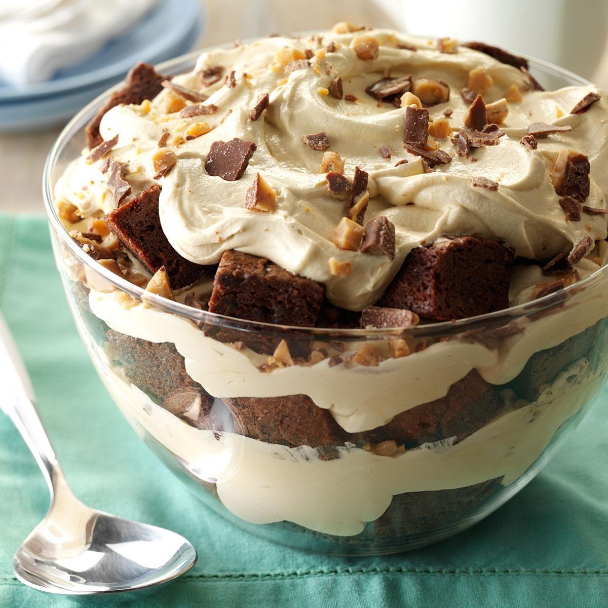 Toffee Brownie Trifle Recipe: Brownie Mocha Trifle Recipe