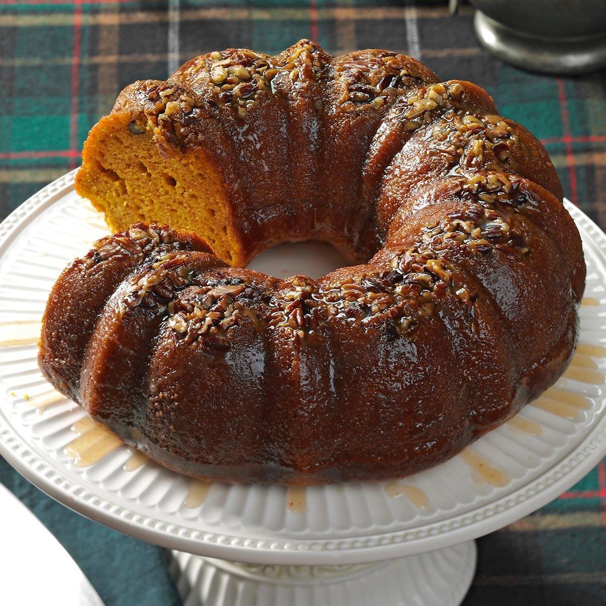 Rum-Glazed Pumpkin Cake Recipe