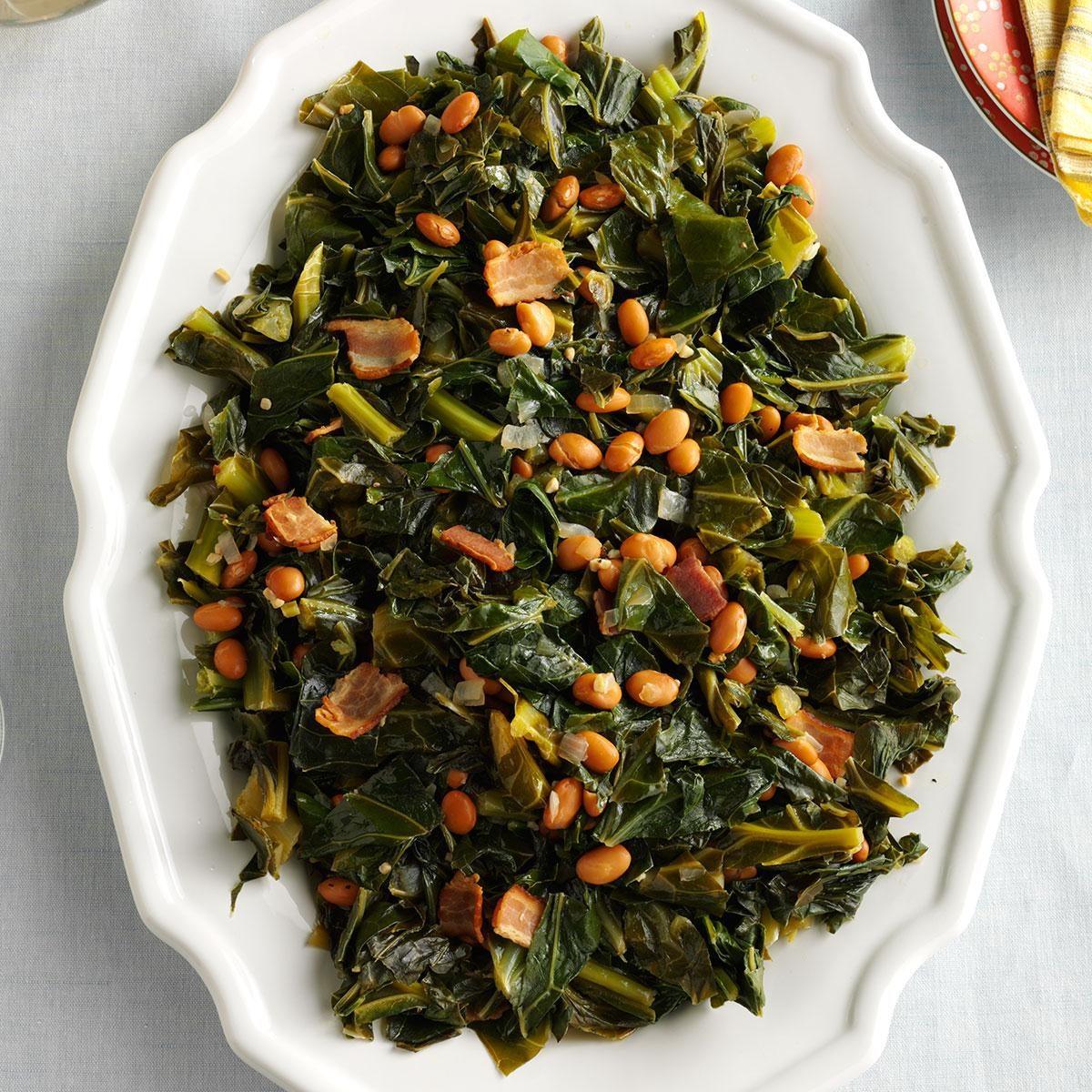 Collard Greens & Beans Recipe | Taste of Home