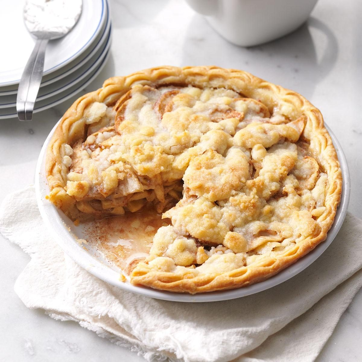 how to make apple crumble pie topping