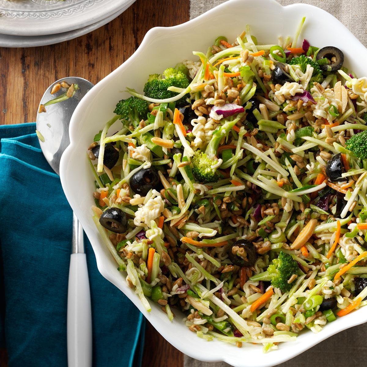 Nutty Broccoli Slaw Recipe | Taste of Home