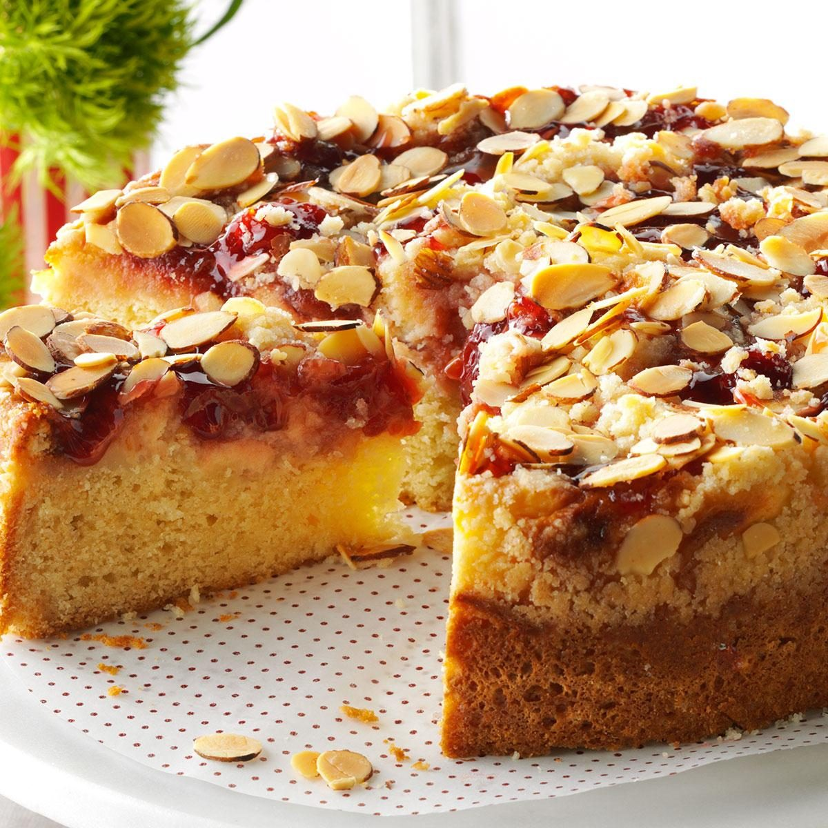 Cherry-Almond Coffee Cake Recipe | Taste of Home