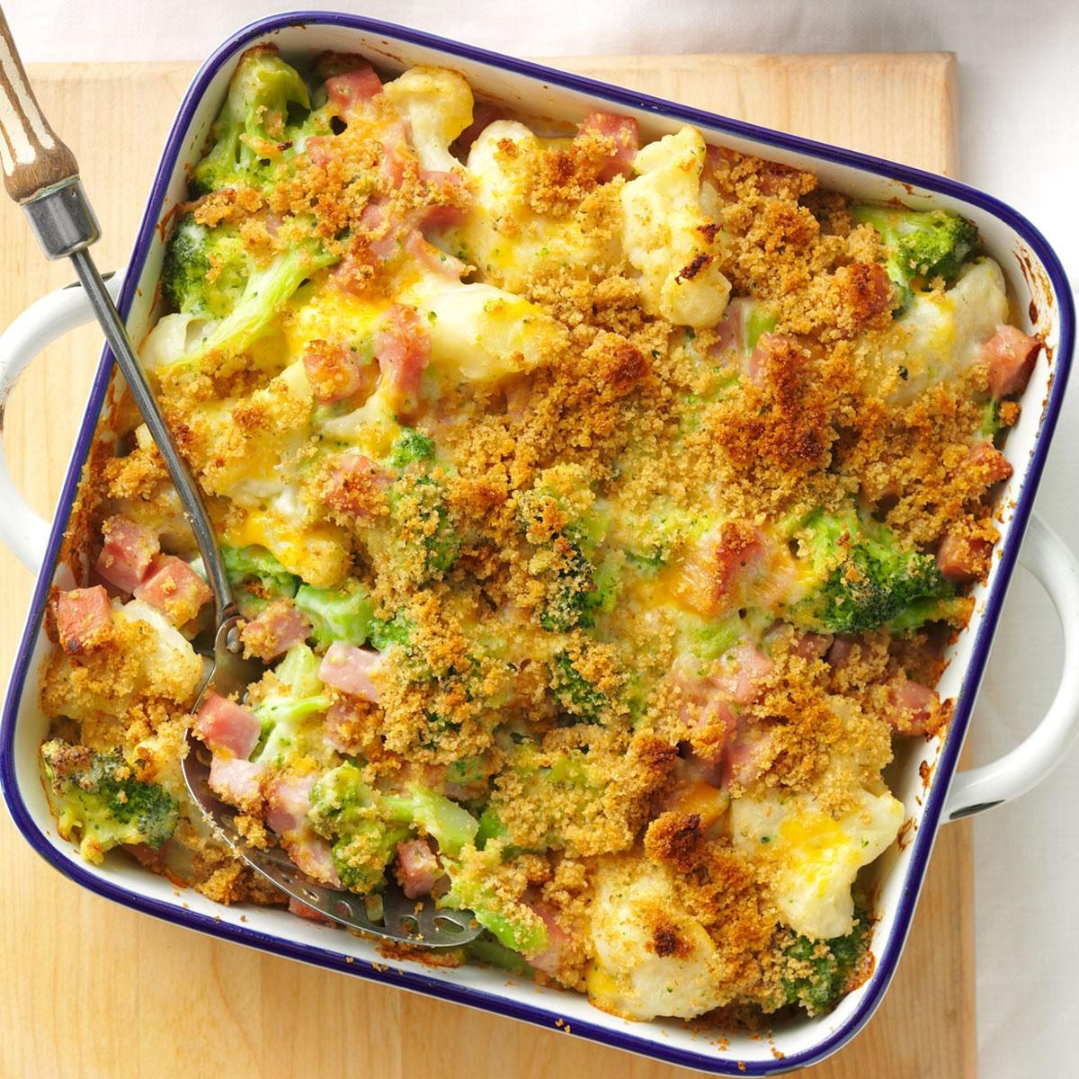 Vegetable Egg Breakfast Casserole: Ham & Veggie Casserole Recipe