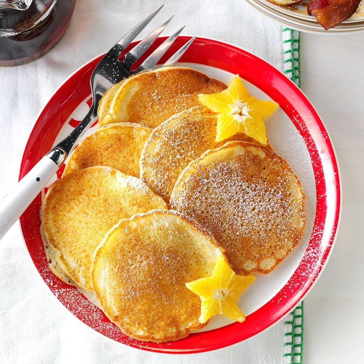 Orange Ricotta Pancakes Recipe   Taste of Home