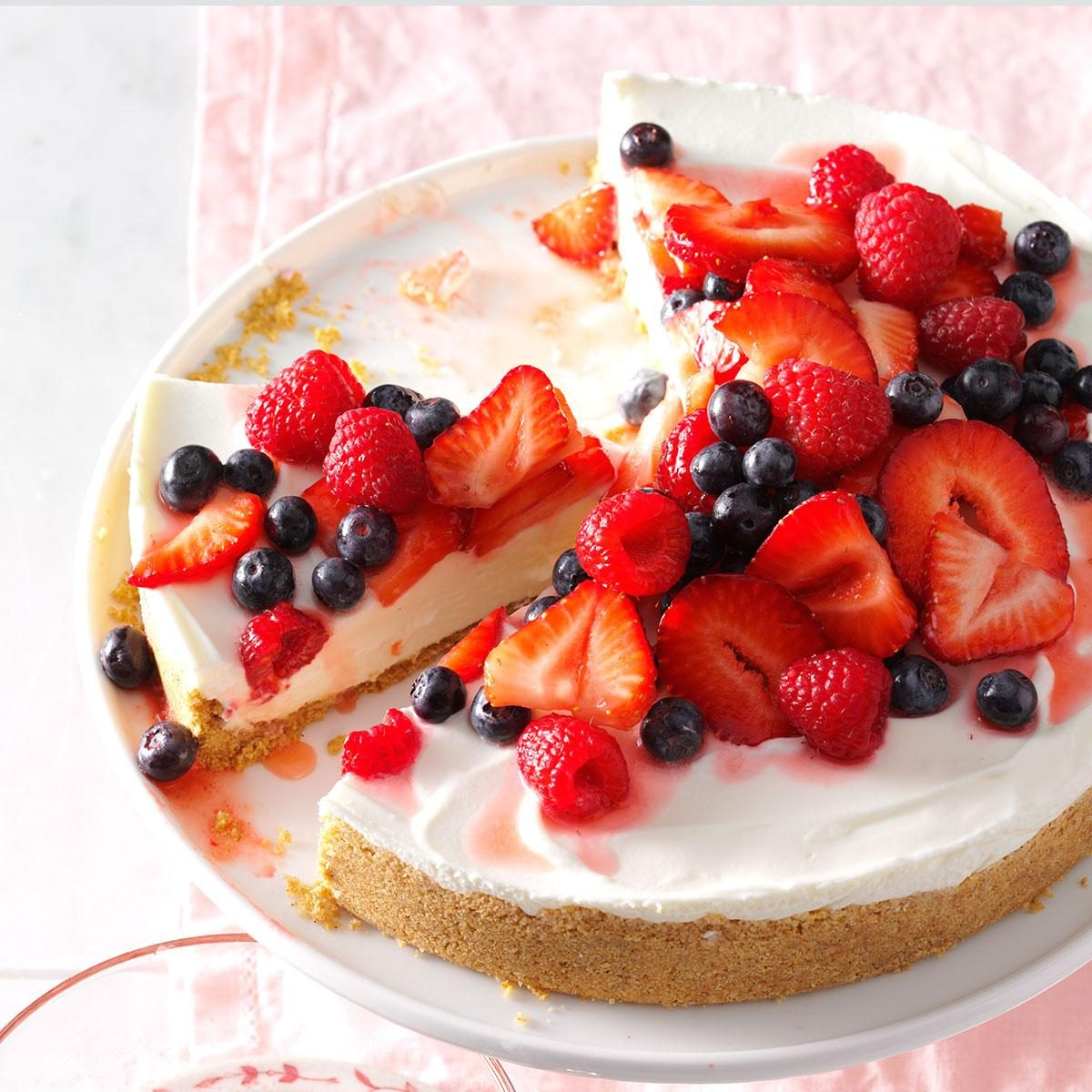 Triple Berry No-Bake Cheesecake Recipe