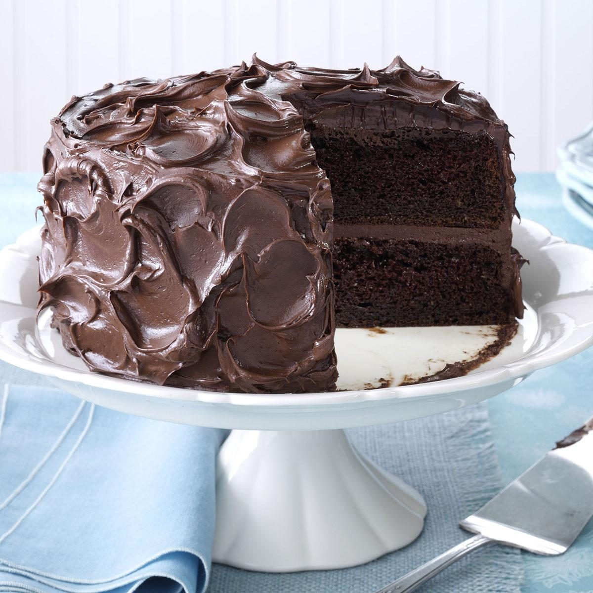 Cake At Home Easy : Come-Home-to-Mama Chocolate Cake Recipe Taste of Home