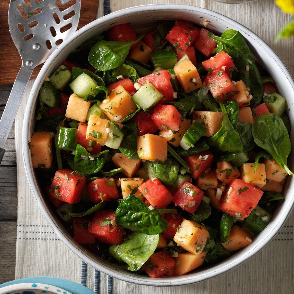 Watermelon & Spinach Salad Recipe