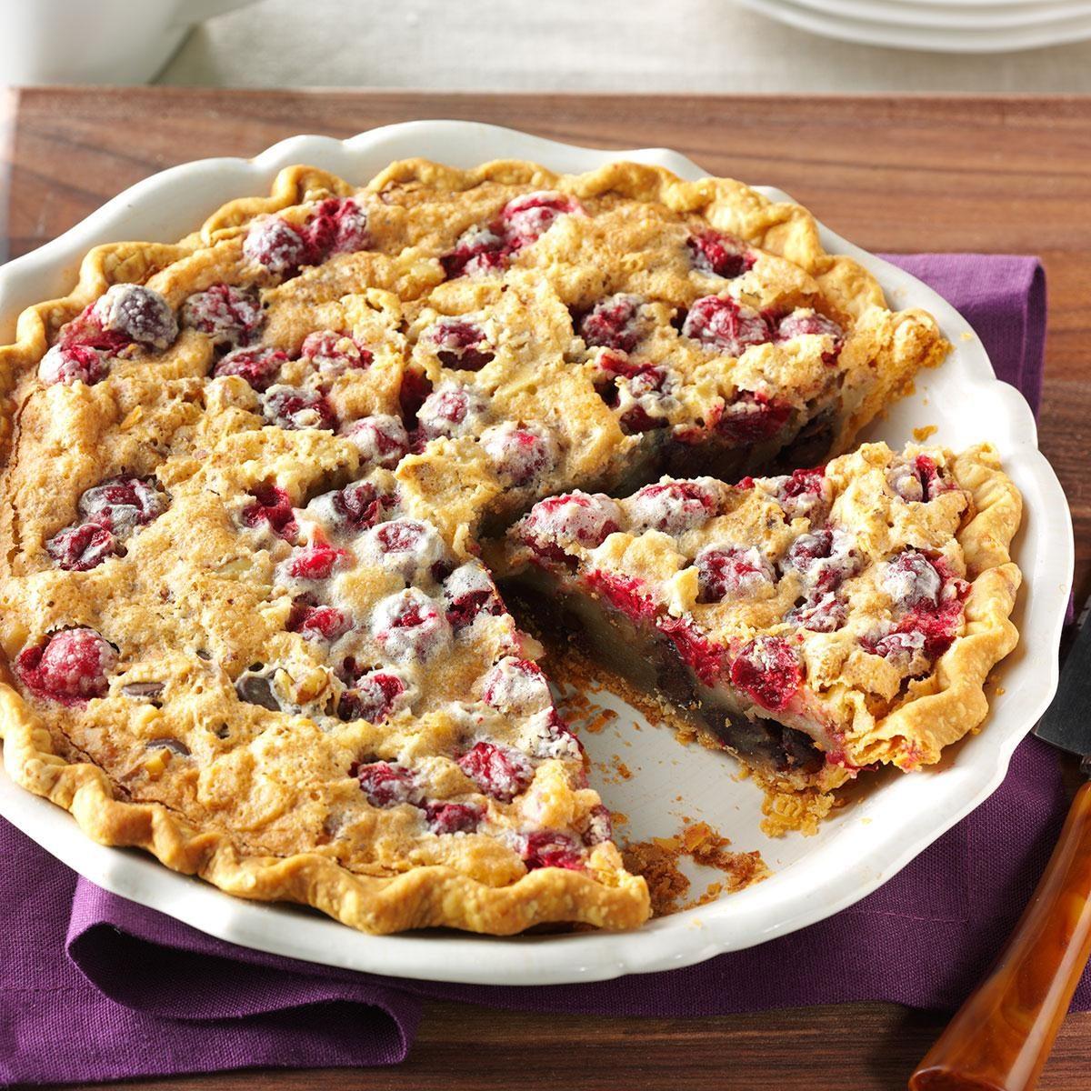 Cranberry & Walnut Pie Recipe   Taste of Home